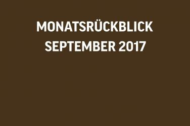 Monatsrückblick VIVANNO September 2017
