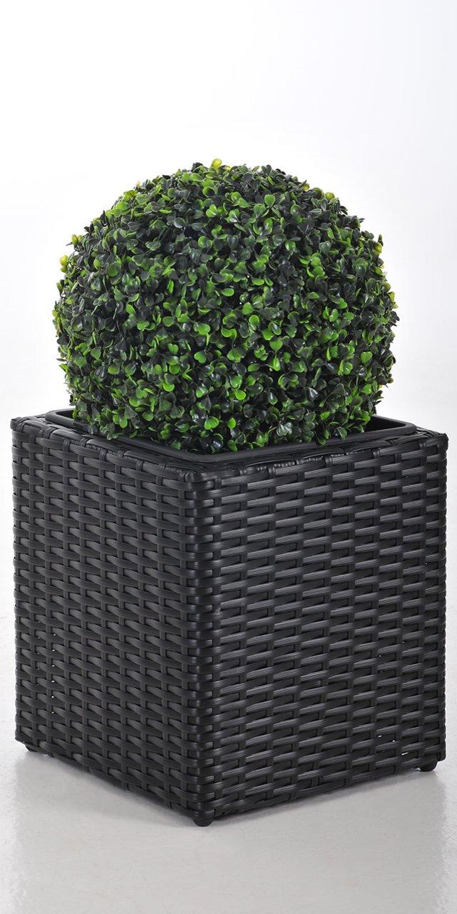 pflanzk bel block aus polyrattan. Black Bedroom Furniture Sets. Home Design Ideas