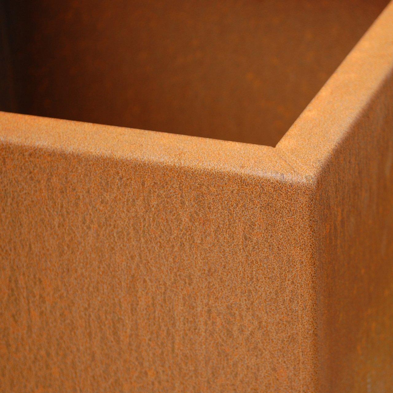pflanzk bel block aus edelstahl und cortenstahl. Black Bedroom Furniture Sets. Home Design Ideas